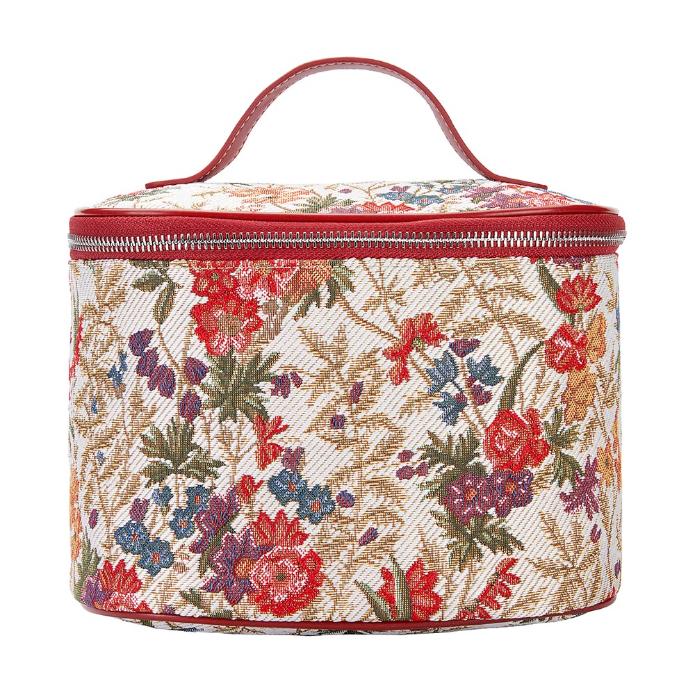 Flower Meadow Makeup Bag | Women's Makeup Case Vanity Bag | TOIL-FLMD