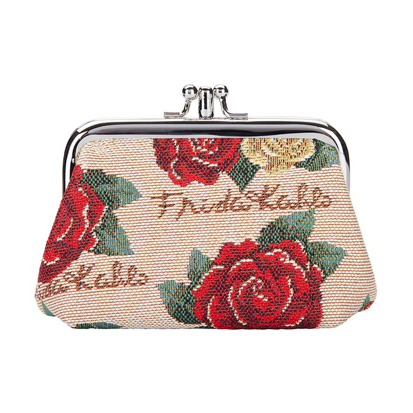 Frida Kahlo Rose Frame Purse | Floral Coin Purse | FRMP-FKROSE