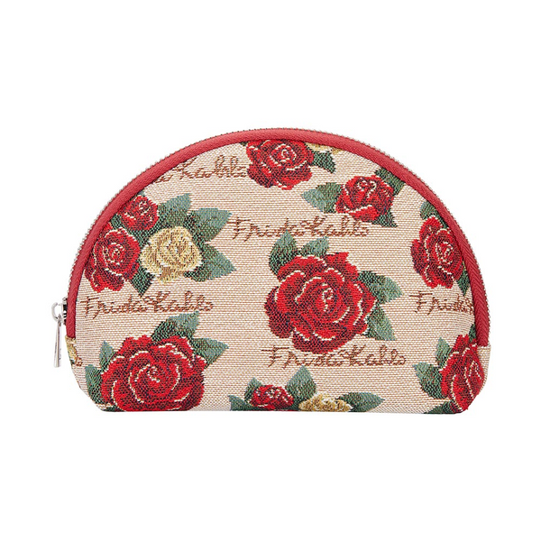 Frida Khalo Rose Cosmetic Bag | Blue Makeup Case | COSM-FKROSE