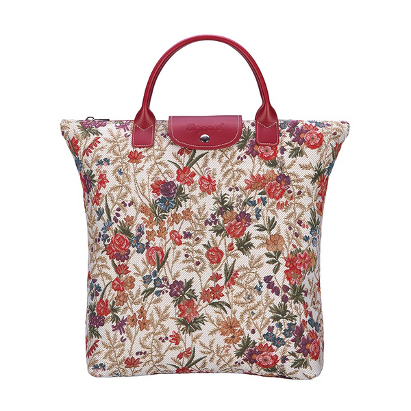 Flower Meadow Foldaway Shopping Bags | Foldable Tote Bag | FDAW-FLMD