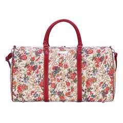 Flower Meadow Big Holdall | Floral Design Luggage Travel Bag | BHOLD-FLMD