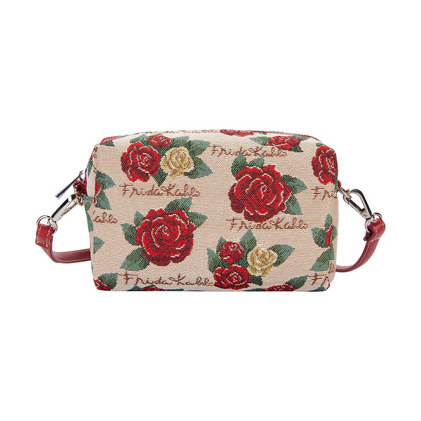 Frida Kahlo Rose Hip Bag | Blue Cross Shoulder Bag | HPBG-FKROSE