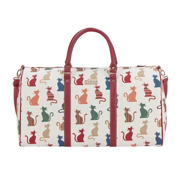 Cheeky Cat Big Holdall | Large Tapestry Travel Luggage | BHOLD-CHEKY