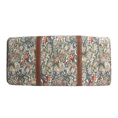 William Morris Golden Lily Big Holdall | Ladies Tapestry Weekend Travel Luggage | BHOLD-GLILY