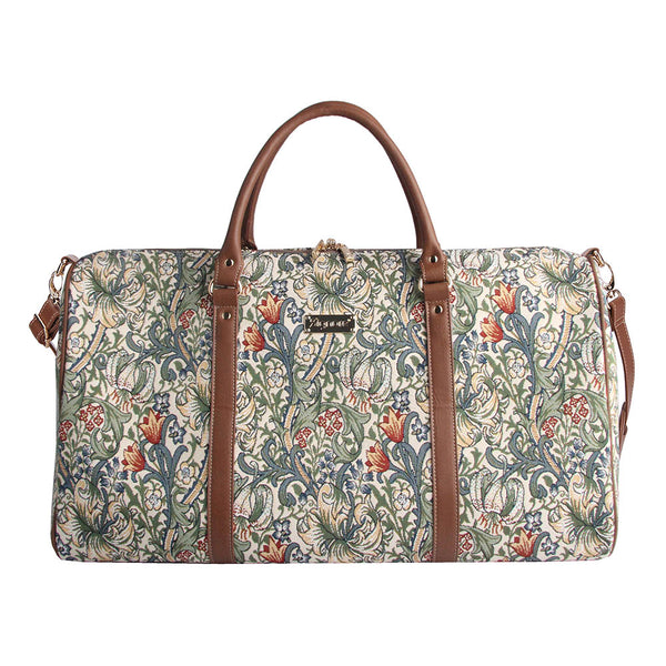 William Morris Golden Lily Big Holdall | Ladies Overnight Weekend Travel Luggage | BHOLD-GLILY