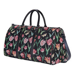 Marrel's Tulip Black Big Holdall | Floral Ladies Large Holdall | BHOLD-JMTBK