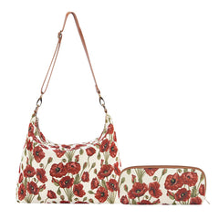 2021 S/S (New Arrival) Poppy Makeup Brush Bag | Floral Cosmetic Pouch | BRUBG-POP