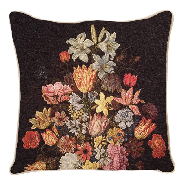 CCOV-ART-AB-STILL | AMBROSIUS BOSSCHAERT A STILL LIFE OF FLOWERS IN A WAN-LI VASE PILLOWCASE