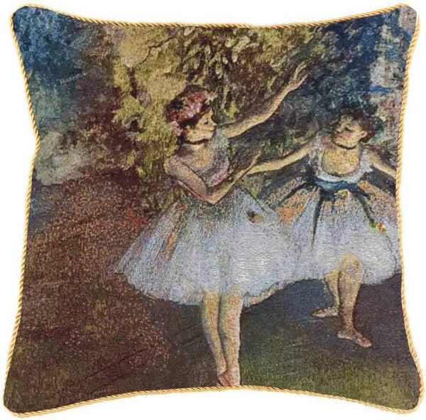 Edgar Degas Ballerina Cushion Cover | Art Ballerina Pillow Case 18x18 inch | CCOV-ART-ED-BLR-2
