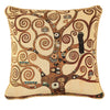 Klimt Tree of Life - Tree Cushion Cover | 18x18 Brown Cushion Covers | CCOV-ART-KLIMT-2