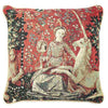 Lady and Unicorn Sense of Sight Cushion Cover | Art Cushions 18x18 | CCOV-ART-LU-SI