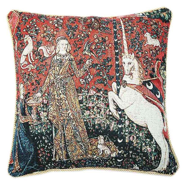 Lady and Unicorn Sense of Taste Cushion Cover | Art Cushions 18x18 | CCOV-ART-LU-TA