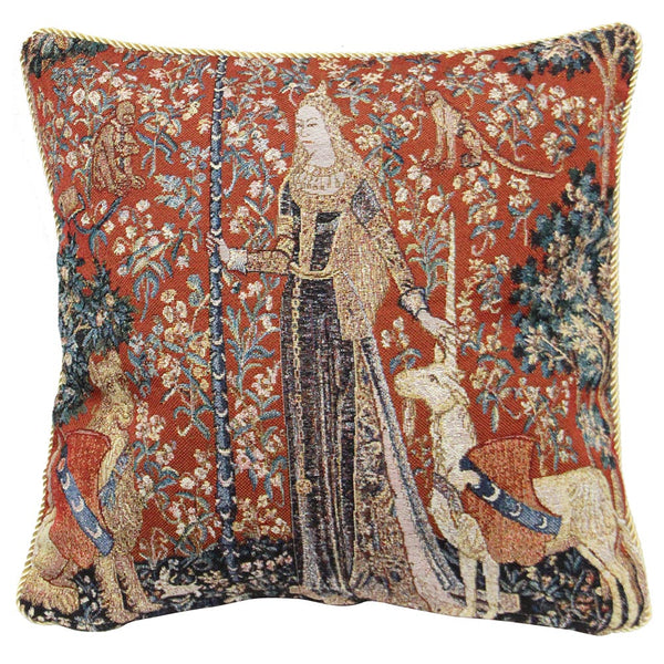 Lady and Unicorn Sense of Touch Cushion Cover | Art Cushions 18x18 | CCOV-ART-LU-TO