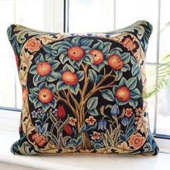 William Morris Orange Tree Cushion Cover | Floral Cushions 18x18 inch | CCOV-ART-MORRIS-1