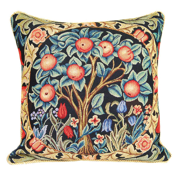 William Morris Orange Tree Cushion Cover | Unique Tapestry Art Pillow 18x18 inch | CCOV-ART-MORRIS-1