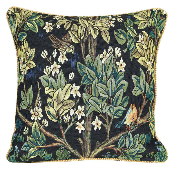 William Morris Tree of Life Blue Cushion Cover | Decorative Art Pillow 18x18 cm | CCOV-ART-MORRIS-2