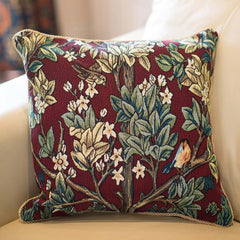 William Morris Tree of Life - Red Cushion Cover | Art Pillow Case 18x18 cm | CCOV-ART-MORRIS-3