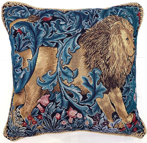 William Morris The Lion Cushion Cover | Floral Tapestry Art Pillow 18x18 inch | CCOV-ART-MORRIS-5