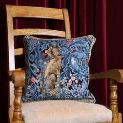 William Morris The Fox Cushion Cover | Tapestry Blue Cushions 18x18 inch | CCOV-ART-MORRIS-6