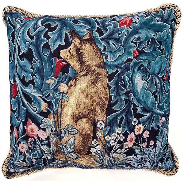 William Morris The Fox Cushion Cover | Floral Art Pillow 18x18 inch | CCOV-ART-MORRIS-6
