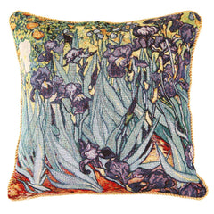 Van Gogh Iris Cushion Cover | Floral Art Pillow Case 18x18 inch | CCOV-ART-VANGOGH-2