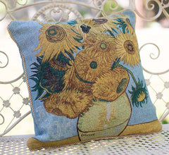 Van Gogh Sun Flower Cushion Cover | Tapestry Cushions 18x18 inch | CCOV-ART-VANGOGH-3