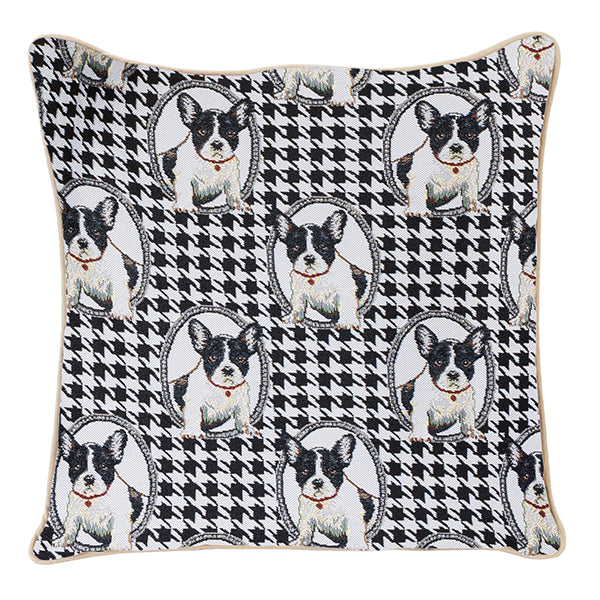 French Bulldog Tapestry Cushion Cover | 18x18 Cushion Covers | CCOV-FREN