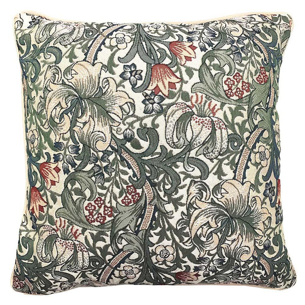 William Morris Golden Lily Cushion Cover | Decorative Pillow Case 18x18 inch | CCOV-GLILY