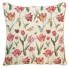 Marrel's Tulip White Cushion Cover | Floral Tapestry Decorative Pillow Covers 18x18inch | CCOV-JMTWT