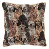 Labrador Cushion Cover | Brown Tapestry Square Pillow Case 18x18 inch | CCOV-LAB