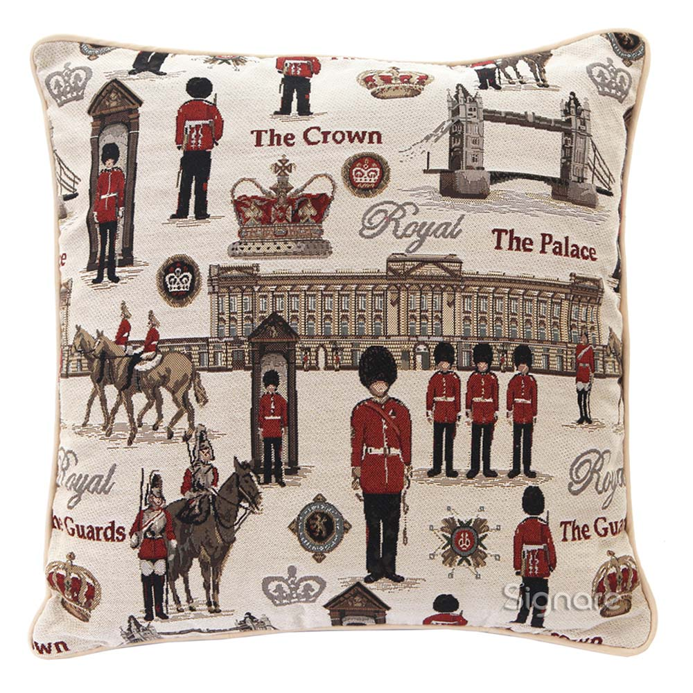 Royal Guard Cushion Cover | Queen's Guard Decorative Pillow Case 18x18 inch | CCOV-RGD