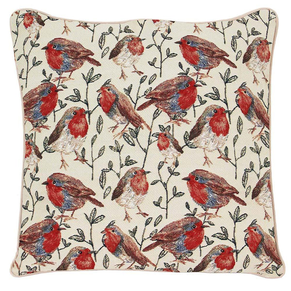 Robin Cushion Cover | Stylish Decorative Tapestry Pillow 18x18 inch | CCOV-ROB