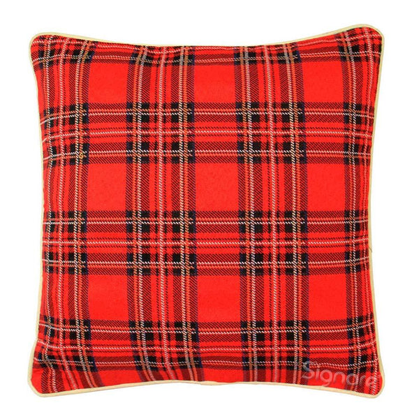 Royal Stewart Tartan Cushion Cover | Decorative Home Pillow 18x18 inch | CCOV-RSTT