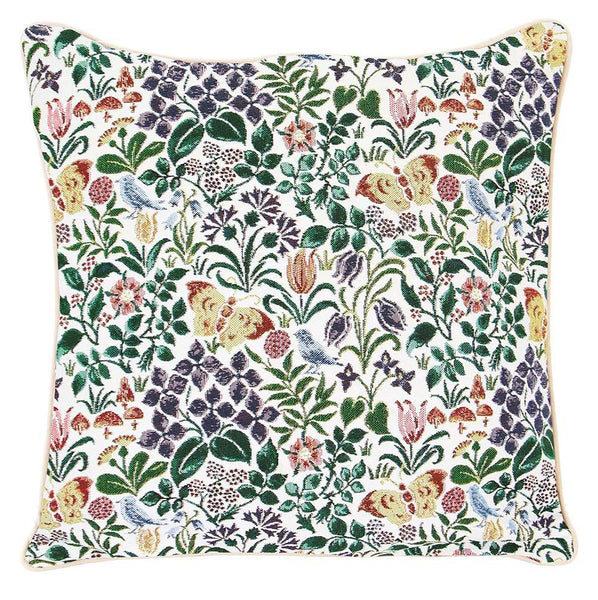 Spring Flowers Cushion Cover | Floral Tapestry Decorative Pillow Case 18x18 inch | CCOV-SPFL