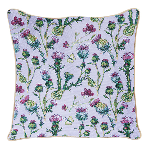Thistle Tapestry Cushion Cover | Purple Cushion Covers 18x18 inch | CCOV-THIS