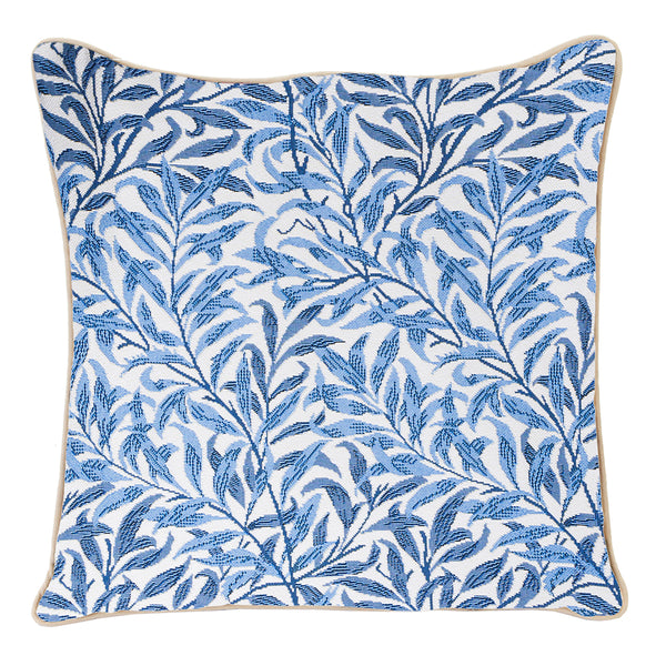 William Morris Willow Bough Cushion Cover | Blue Floral Art Pillow Case 18x18 cm | CCOV-WIOW