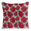 Christmas Poinsettias Cushion Cover | 18x18 Christmas Cushions | CCOV-XMAS-POIN