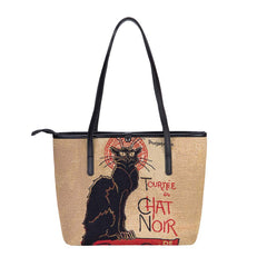 Steinlen - Tournée du Chat Noir Shoulder Tote Bag | Art College Bag | COLL-ART-TS-CHAT