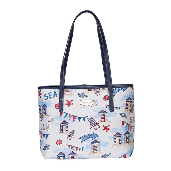 Beach Hut Shoulder Tote Bag | Tapestry Ladies Shoulder Bag | COLL-BHUT