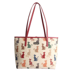 Cheeky Cat Shoulder Tote Bag | Cute Tapestry Shoulder Bag | COLL-CHEKY