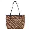 Jane Austen Oak Shoulder Tote Bag | Brown Tapestry Shoulder Handbags | COLL-JANE