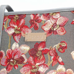 Orchid Shoulder Tote Bag | Floral Tapestry College Bag | COLL-ORC