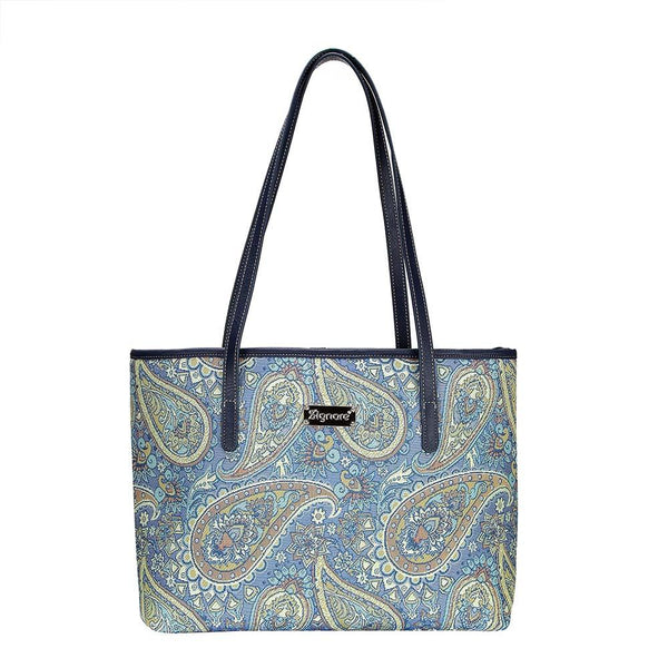 Paisley Shoulder Tote Bag | Ladies Floral Unique Tapestry College Handbag | COLL-PAIS