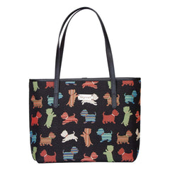 Playful Puppy Shoulder Tote Bag | Cute Tapestry Shoulder Bag | COLL-PUPPY