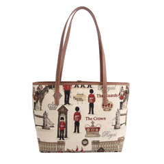 Royal Guard Shoulder Tote Bag | Tapestry College Bag | COLL-RGD
