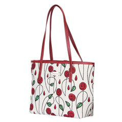 Mackintosh Rose Shoulder Tote Bag | Designer Unusual Art Fashion Floral Side Handbag | COLL-RMSP