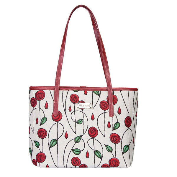 Mackintosh Rose Shoulder Tote Bag | Floral Tapestry Shoulder Bag | COLL-RMSP