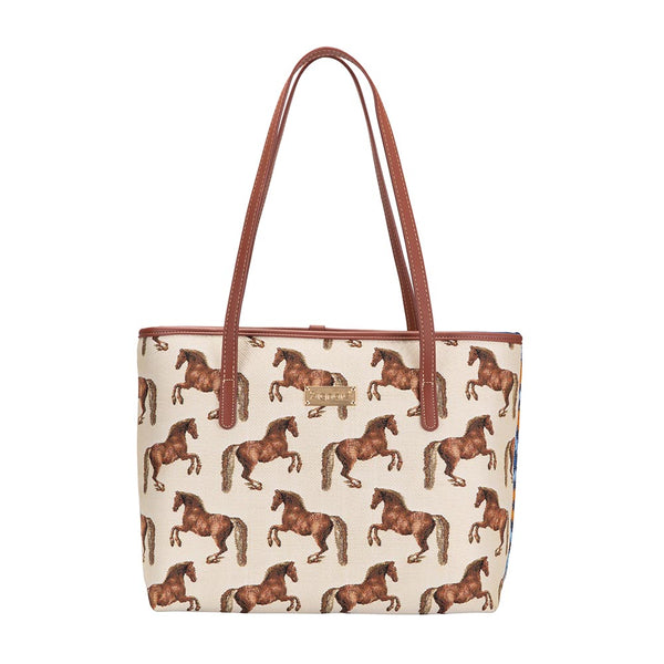 Whistlejacket Shoulder Tote Bag | Horse Design Tapestry College Handbag | COLL-WHISTLE