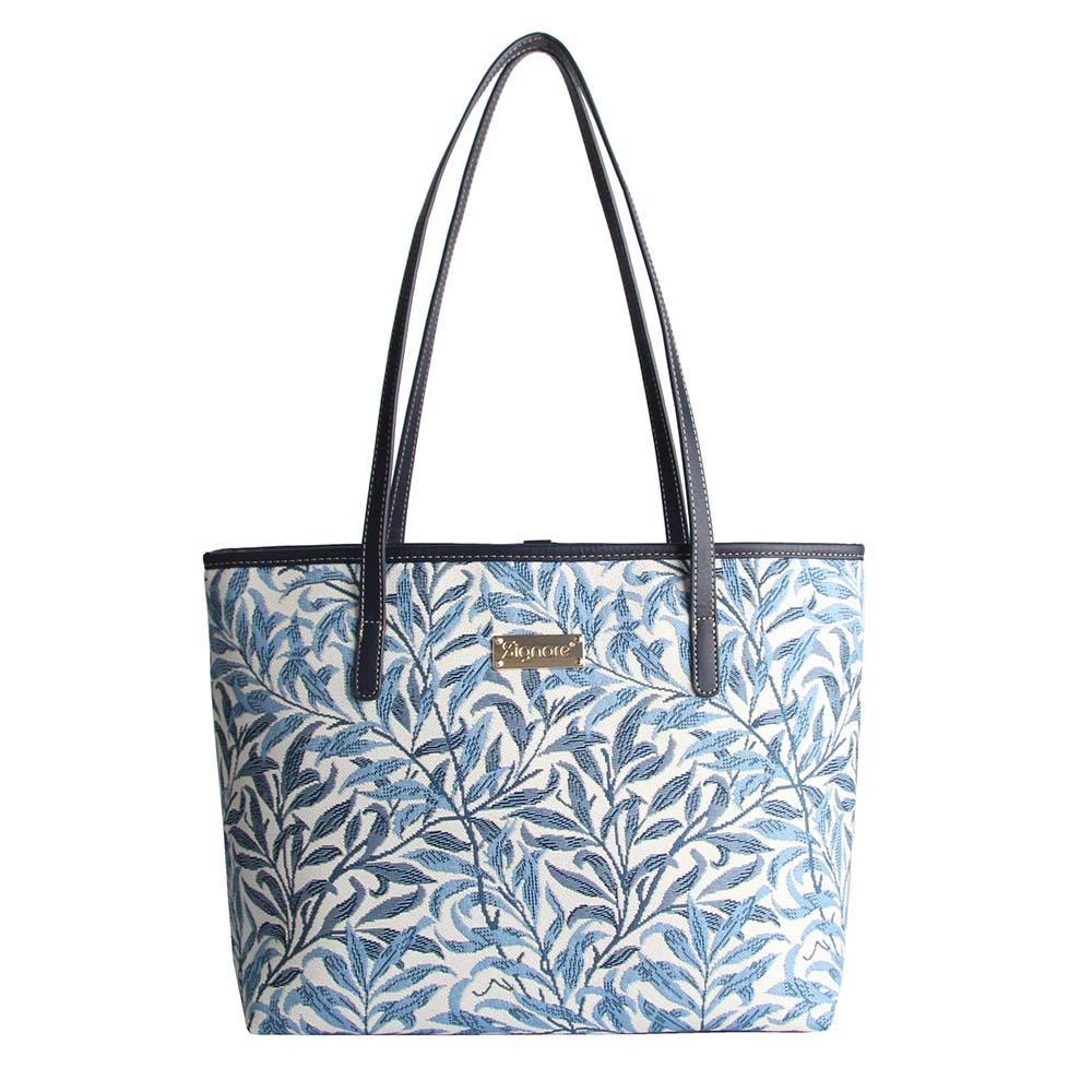 William Morris Willow Bough Shoulder Tote Bag | Blue Tapestry Shoulder Bag | COLL-WIOW