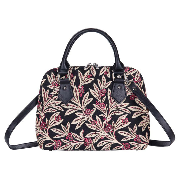 Golden Fern Top-handle Shoulder Bag | Floral Tapestry Handbag | CONV-GFERN